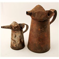 Antique Oil Automotive Cans (2)  (58669)