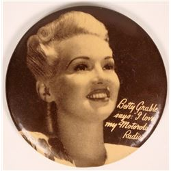 Betty Grable Motorola Radio Pocket Mirror  (119082)