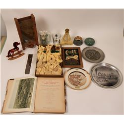 Box of Antiques and Collectibles  (116554)