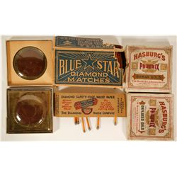 Box of Stick Matches and Hasburg's Roman and Unfluxed Gold  (90984)