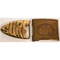 Brass belt buckles  (116741)