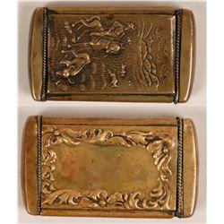 Brass Cowboy Matchbox   (120057)
