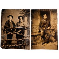 Hunting Related Tintypes (2 count)  (57273)