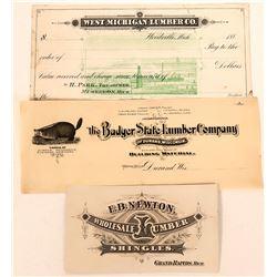 Lumber Companies' Printers' Proofs  (118092)