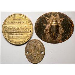 Miscellaneous Vintage Brass Labels  (118899)