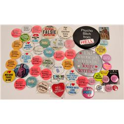 Pinback Collection About Women  (118888)