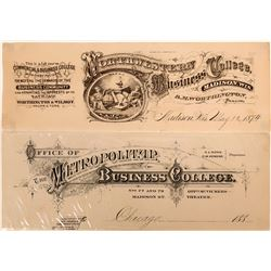 Printers' Proofs Advertising Coupons for Business Colleges  (118084)