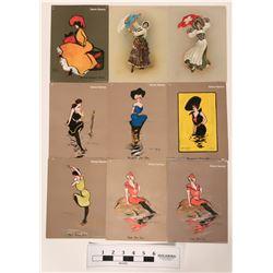 Set of nine Cigarette Art Pictures  (118859)
