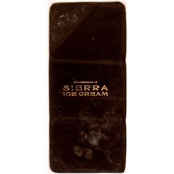 Sierra Ice Cream Leather Wallet c. 1900-1910, CA.   (118340)