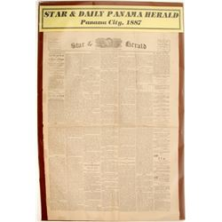 Star & Daily Panama Herald Newspaper 1887  (63115)