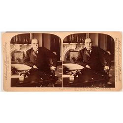 Stereoview photo of President McKinley at his WH desk  (118000)