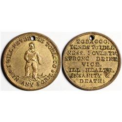 Tobacco Temperance Medal  (118108)