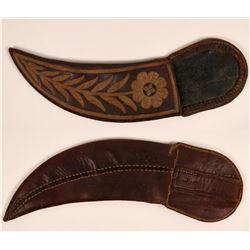 Vintage Leather Knife Sheath  (120058)