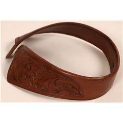 Vintage Western Cowboy Leather Collar - Rare!  (118151)