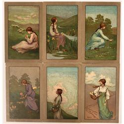 Pretty Ladies Postcards Signed By Barham (6)  (111703)