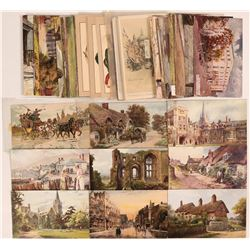 England Sets of Postcards Including One Tuck (71)  (111730)