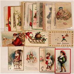 Large Christmas Grouping Including Tuck's and Clapsaddle's Postcards (37)  (111733)