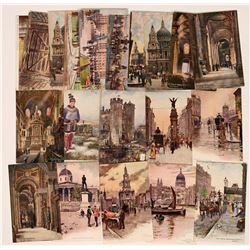 Large Group of Tuck Cards Depicting Scenes of London (24)  (111701)