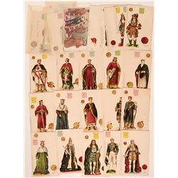 "Tuck "" Kings & Queens of England"" Postcards (27)  (111699)"