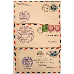 1930 Official Graf Zeppelin Dedication Postal Covers  (112048)