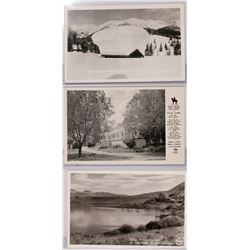 Tioga Lodge, Mono Lake and Snow Scene of Galena Set of 3, Real Photo Postcards  (119930)