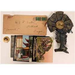 SF RPC and Litho Postcards, Cover, Ribbon and Pinback  (118095)