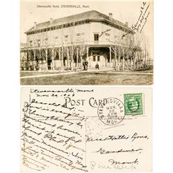Postcard Pine Creek Cancel Stevensville, Mon. 1909   (40274)