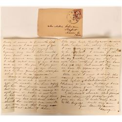 1859 Newark, Ohio Cover with Letter  (118106)