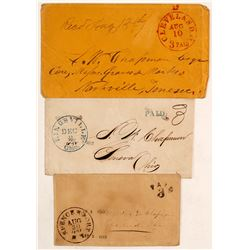 Three stampless covers  (60963)