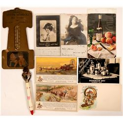 Beer & Ale Postcards With Thermometer & Bottle Opener (7)  (111716)