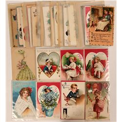 Valentine Grouping of Postcards Including Clapsaddle's and Tuck's (41)  (111734)