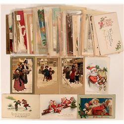 Massive Christmas Grouping Including Clapsaddle's & Brundage's Postcards (69)  (111736)