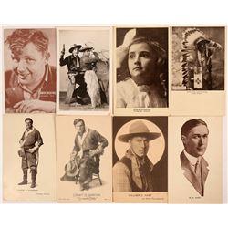Cowboy Actors Postcards (8)  (111718)