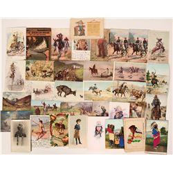 Cowboys & Indians Postcard Group (33)  (111696)