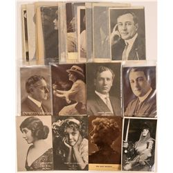 Big Lot of Early Hollywood Stars Postcards (41)  (111721)