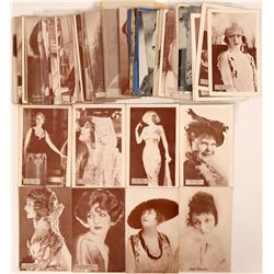 Large Hollywood Stars Batch of Postcards (65)  (111723)