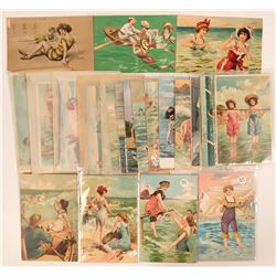 Large Group of Bathing Beauties Postcards (38)  (111704)