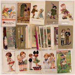 Large Lot of Children Including Four Tuck Postcards (40)  (111731)