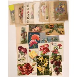 Massive Grouping of Flower Postcards Including Five Tuck Cards (67)  (111737)