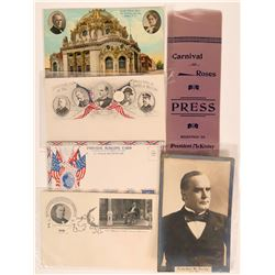 President McKinley Postcards and Ribbon (5)  (111743)