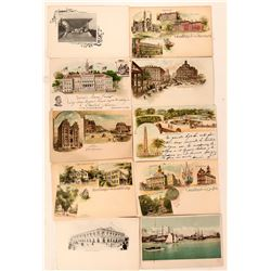 Ten Pioneer Postcards RPC and One Litho  (118096)
