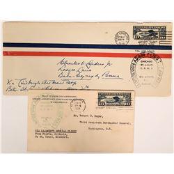 "Two ""Lindbergh Again Flies the Air Mail"" 1928 covers  (112049)"