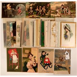 Women in 3D Embossed and Women Poetry Postcards (43)  (111705)