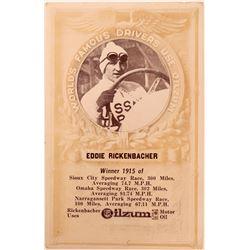 Eddie Rickenbacher Race Car Driver RPC Postcard  (117349)