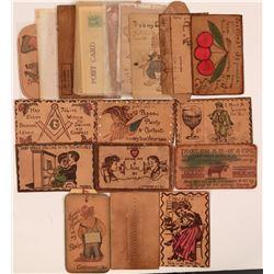 Leather & Wood Postcards (24)  (111714)