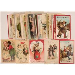 Nice Valentine Grouping Including Tuck's, Clapsaddle's & Brundage's Postcards (36)  (111735)