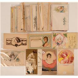 Victorian & Art Deco Women Postcards (41)  (111727)
