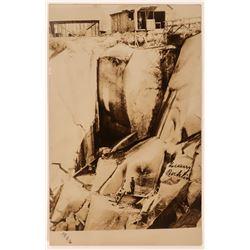 Real Photo Postcard of Rock Quarry at Rocklin  (113211)