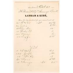 S.F. Mining Exchange Stock Trade Report (Virginia City & Bodie Mines) 1878  (111937)