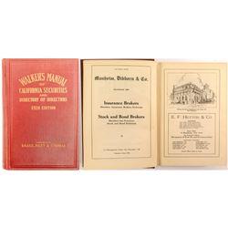Walker's Manual of California Securities and Directory of Directors 1924  (52237)